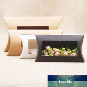 Coussin Boîte en forme d'oreiller pour petites fleurs Cadeau Boîte Cookie Boîtes de carton Kraft Paper Tube Emballage Candy Cadeau Fête de la fête