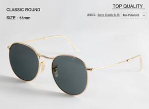 최고 품질의 브랜드 라운드 핑크 G15 선글라스 여성용 금속 태양 안경 남자 50mm UV400 그라디언트 디자이너 가파스 안경 여성