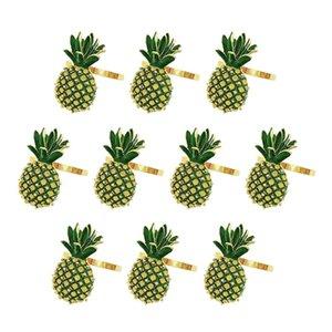 Napkin Rings Summer Set Of 10,Pineapple Holder Holders For Tables, Fruit Buckles Ring Kitchen