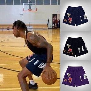 21ss Eric E Basic Short Men's Women's fitness shorts, mesh breathable beach pants, sports series basketball pants York