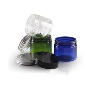 Bottiglie di stoccaggio barattoli 5pcs 50g pet jar spazzola larga bottiglia (con coperchio interno) crema di alluminio crema in plastica scatola di plastica bottiglia cosmetica BQ035