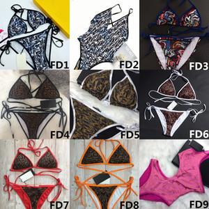 2021 Moda Moda 9 Estilos Mujeres Swimsuits Bikini Set Multicolors Summer Beach Bañado Trajes de baño de viento de alta calidad