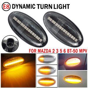 LED Flowing Water Dynamic Turn Signal Side Marker Light Indicator Blinker For Mazda 2 2003-2014 For Mazda 3 5 6 BT-50 MPV