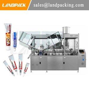 Lamine ve alüminyum tüpler için tam otomatik yüksek verimli krem / gıda tüpü dolum ve sızdırmazlık makinesi