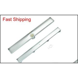 304 Stainless Steel 60cm Tile Insert Rectangular Linear Anti-odor Floor Drain Bathroom Hardware Invisi qylipF bde_luck