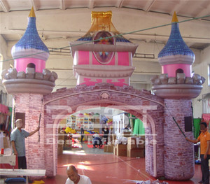 6m wide colorful inflatable castle arch tunnel for kid birthday party events decoration tunnel decorations