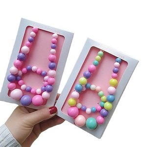 Girls Jewelry Sets Necklaces Bracelet 2Pcs Sweet Kids Accessories Fashion Children Necklace Bracelets Accessory B3931