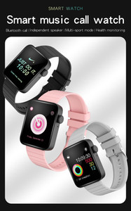 Fashion P88 Smart Watch Heart Rate Meter Full Touch Screen Waterproof Sports Color LCD Display Wristband SmartWatch