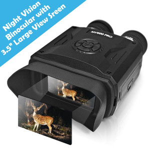 8X Digital Zoom Night Vision Binoculars IR Night Vision Scope with Camera Video Replay Menu Modes 16GB TF Card Included