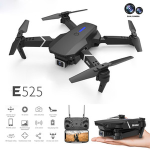 New E525 drone 4k HD dual lens mini drone WiFi 1080p real-time transmission FPV drone Dual cameras Foldable RC Quadcopter gift toy