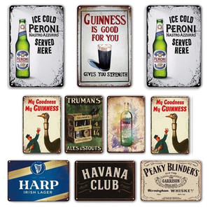 2021 Bar Pub Wall Shelves Decorative Plaques Tin Sign Vintage Beer Brand Poster Metal Signs For Rustic Home Kitchen Living Room Pub Decor