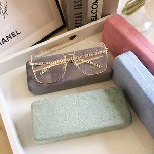 Velvet cloth lens literature pink girl portable compression glasses storage box man