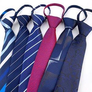 Neck Ties Sitonjwly Zipper Striped For Mens Groom Business Necktie Wedding Party Boys Girls Tie Women Neckwear Cravat