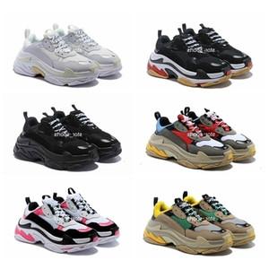 Paris 17fw Triple S Sneaker Triple-S Papa occasionnel pour Mens Femme Beige Sports Black Sports Sports Tennis 36-45