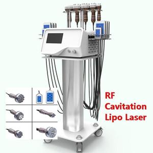 2021 Hot sell Slimming Machine 6 in 1 Ultrasonic RF Cavitation Lipo Laser Fat Loss Machine Body Shape For Skin Clinic Device
