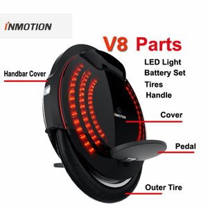 Original INMOTION V8 Parts Body Shell Protection Cover Bag Handle Adjustable Pedal Inner Tires LED light Unicycle Accessories
