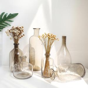 Nórdic ins bolha vaso vaso fumaça cinza terrarium vidro recipientes de casamento garrafa de casamento decoração de casa jarronas decorativos moderno
