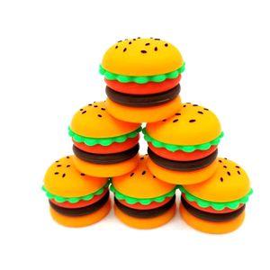 Contenedor de jarra de hamburguesa Tarjetas de silicona Concentrado de cera Concentrado de cera de 5 ml Contenedores de silicona de grado alimenticio Soporte de aceite DAB Herramienta de almacenamiento DHL gratis