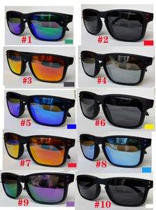 MOQ = 10pcs 봄 남자와 여자 편광 된 선글라스 남자들은 패션 windproof 여성 스포츠 사이클링 안경 고글 안경 가스 10 색 무료 배송