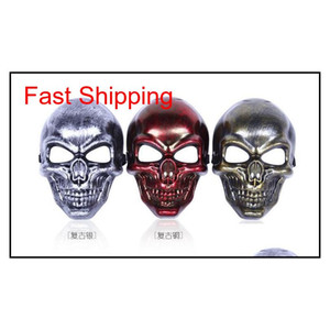 Skull Mask Restoring Ancient Ways Tactical Masks Hunting Halloween Motorcycle Outdoor Military Wargame Paintball Protection Mask Gift Kbd1E