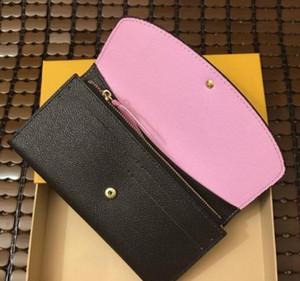 Moda design clássico homens e wome carteira bolsa longa carteira de boa qualidade saco de embreagem com caixa