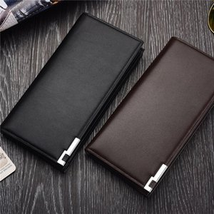 NEW Luxury Card Leather Wallet ID Holder Men Purse Clutch Long Bifold Checkbook Wallets Synthetic Standard PU Oofos