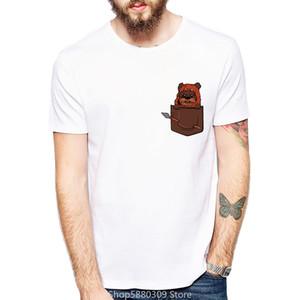 Mens T-shirts Fashion Streetwear Summer Men's Harajuku Ewok Pocket Printed Save Ewoks Short Sleeve Male Novelty Tees Casual Tops