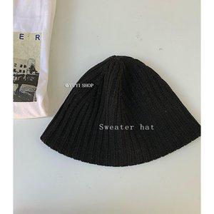 Yuyi 2021 spring clothes Korean leisure design knitting hat versatile fisherman's hat striped woolen hat girl