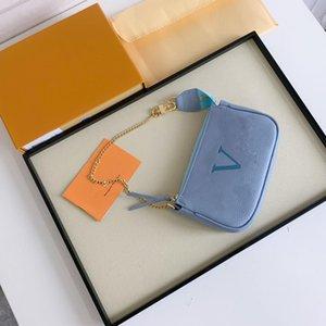 Borse da portafoglio da donna Designer Borse da portafoglio 3 portafogli in pelle su catena di alta qualità signora mini tracolla borsa portamonete