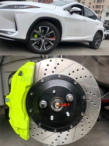 KLAKLE Brake Kit 18Z Caliper Racings Cars Accessories Upgrade Car Wheel Brakes System 355*32MM J Hook Racing Disc For Lexus RX450h 2010