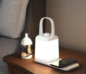 Yenilik Aydınlatma Akıllı Başucu Lambası Cep Telefonu Kablosuz Şarj Masa Işık Yatak Odası Yaratıcı Göz Koruma Taşınabilir Led Gece Işıkları