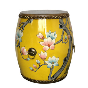 Cowhide drum stool guzheng stool