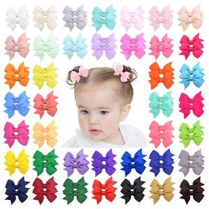 Qualitätsmode 40 Farben Baby Kinder Mädchen Barrettes Bowknot Haarnadeln Kinder Haarspangen Hairclips Haar Bögen Haarschmuck