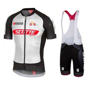 2021 Новый Зеленый SoCtte с коротким рукавом Велоспорт Эластичный Джерси Набор MTB Велосипед Одежда быстрой Сухой Альпинист Велоспорт Одежда MTB Джерси Молодые