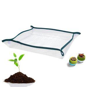 Planters & Pots Reusable Portable Repotting Mat Potting Planting Flower Pot Waterproof Transparent Mesh Cushion For Gardening Potted