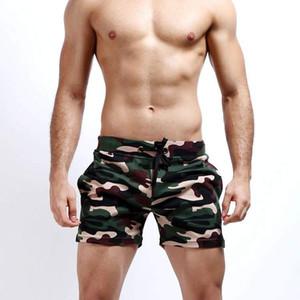 Shorts masculinos Seobean Cotton Cotton Camuflage Mens Home Causal Praia Curto Homem Camo Shorts Homens Quick Seco Calças