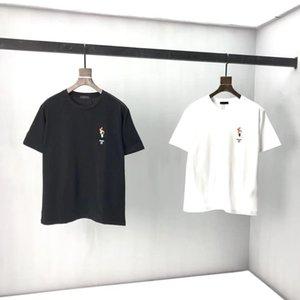 2020сс Весна и лето Новый высококачественный хлопчатобумажный печать с коротким рукавом круглые шеи панель футболки Размер: M-L-XL-XXL-XXXL Цвет: черный белый NNB8