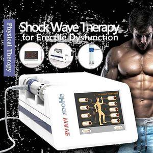 ESWT Taşınabilir Akustik Radyal Şok Dalga Terapi Hava Basıncı Şok Dalga Ortopedik Fizyoterapi için 6bar 21Hz ile Devicese