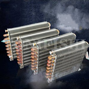 Condenser Water Air Conditioner Heat Dissipation Water-cooled Air-cooled Copper Tube Heat Exchanger Aluminum Fin Radiator