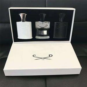 Hohe Qualität Creed Parfüm 3 PCS Sets Aventus Tweed Silber Bergwasser Duft Langlebige Zeit Köln 30ml * 3