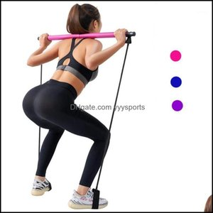 Integrated Equipments Supplies Sports & Outdoorsintegrated Fitness Equip Yoga Pl Rods Gym Bar Pilates Resistance Band Body Abdominal Bands F