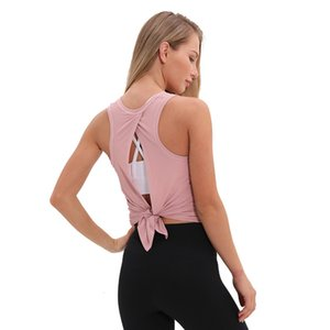 Lulu same vest women's loose breathable running sexy versatile sports and leisure Yoga suit align