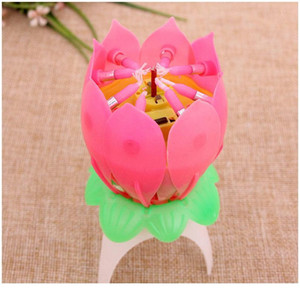 Happy Children Happy Birthday Party Music Candle Romc Lotus Flower Lights With Musical Matically Open For Ki qylSJi