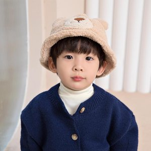 Caps & Hats Baby Hat Autumn And Winter Cute Super Boy Young Child Fisherman Girl Lamb Wool