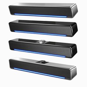 2021 Portable Computer Audio Home Desktop Wired Speaker Long USB Subwoofer Loudspeaker