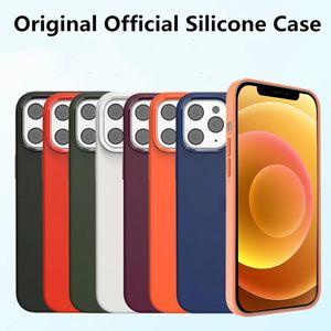 Silicone liquide original magnétique avec boîte de vente au détail pour iPhone 12 Pro Max 12 mini couverture complète pour iPhone 12 Pro Case