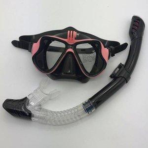 Anti-Fog Swimming Divings Goggles Snorkeling Masks Snorkels Tubes Set Diving Mask Snorkel Tube ForUnderwater Sports Camera