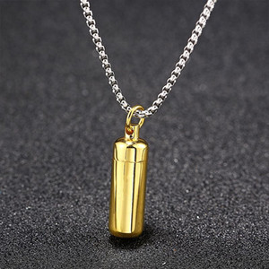 Necklace Womens Perfume Bottle Pendant Fashion Jewelry on The Neck Stainless Steel Simple Blue Gold Chains Necklace Wholesale