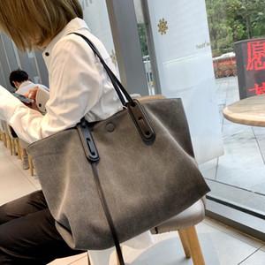 Denim Shoulder Bag 2021 New Versatile Canvas Sticker Badge Tote Bag Shopping Bag Large Capacity Handbag Designer Bags Handbags