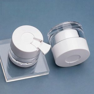 30g 50g Gesichtscreme Glas Weiße Deckel mit Löffel Eye Serum Flaschen Reisen Unterverpackung Kosmetische Flasche
